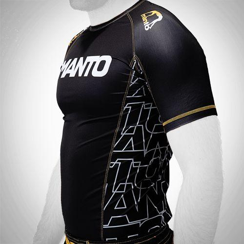 Manto Manto Logo 2.0 Short Sleeve Black Rashguard